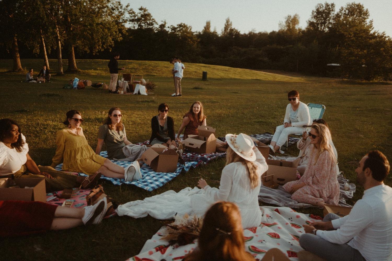 Picknick als trouwfeest