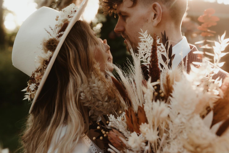 Droogbloemen als trouwboeket