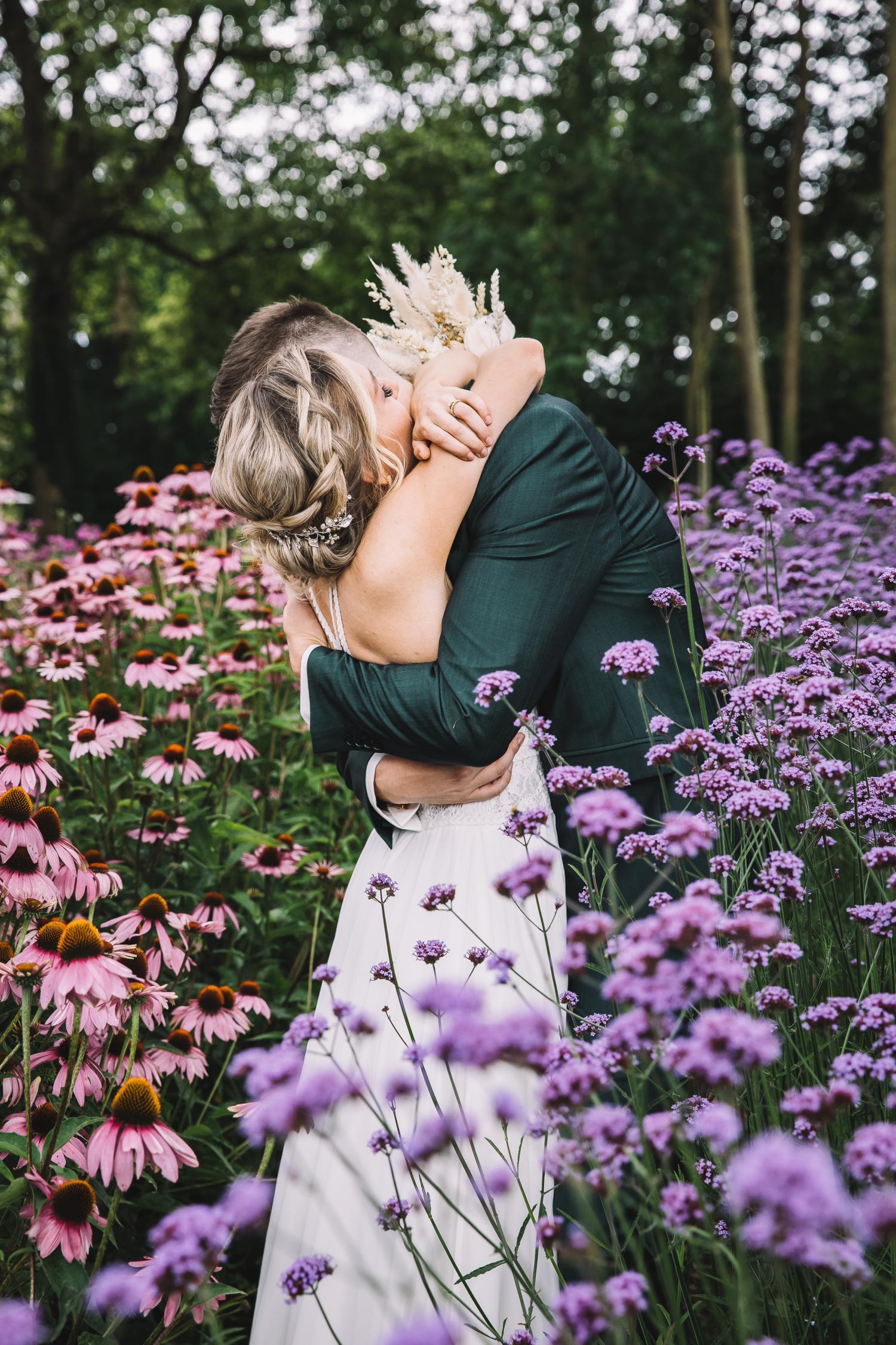 Fotoshoot tussen de bloemen