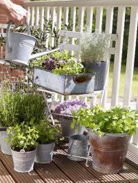 Petit balcon pots