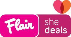 Flair Shedeals logo