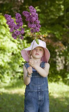 Enfant jardin abuste