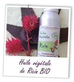 huile vegetale ricin long cheveux