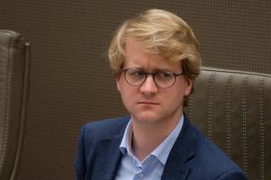 Brecht Warnez, CD&V-schepen in Wingene en lid van het Vlaams Parlement, is fel gekant tegen de regiovorming.© BELGA