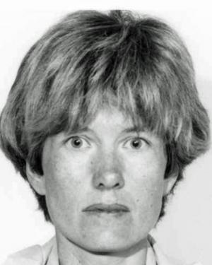 Een foto van Hilde Van Acker uit een opsporingsbericht van de federale politie. (GF)