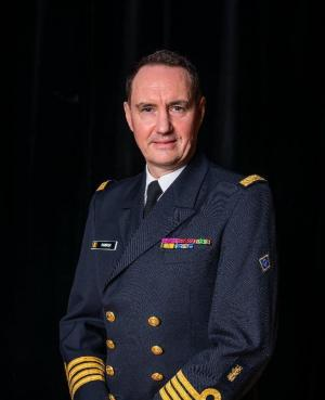 Kapitein-ter-zee Peter Ramboer is de nieuwe directeur van de Navy Academy.© Marine