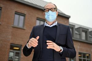 Vlaams minister van Onderwijs Ben Weyts.©ERIC LALMAND BELGA