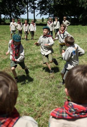 Jeugdactiviteit bij de Scouts.©VIRGINIE LEFOUR BELGA