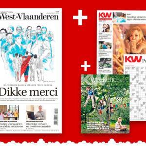 Heel West-Vlaanderen dankt onze helden: KW pakt uit met een historische krant