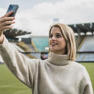 Justine is hét gezicht van Club Brugge: