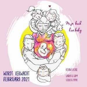 Kevin, Kobe en draagmoeder Sara krijgen een kindje: