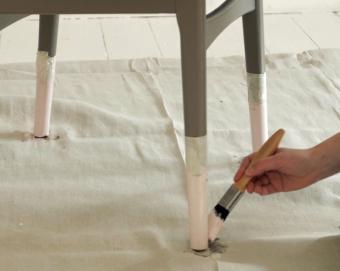 Levis peinture pieds