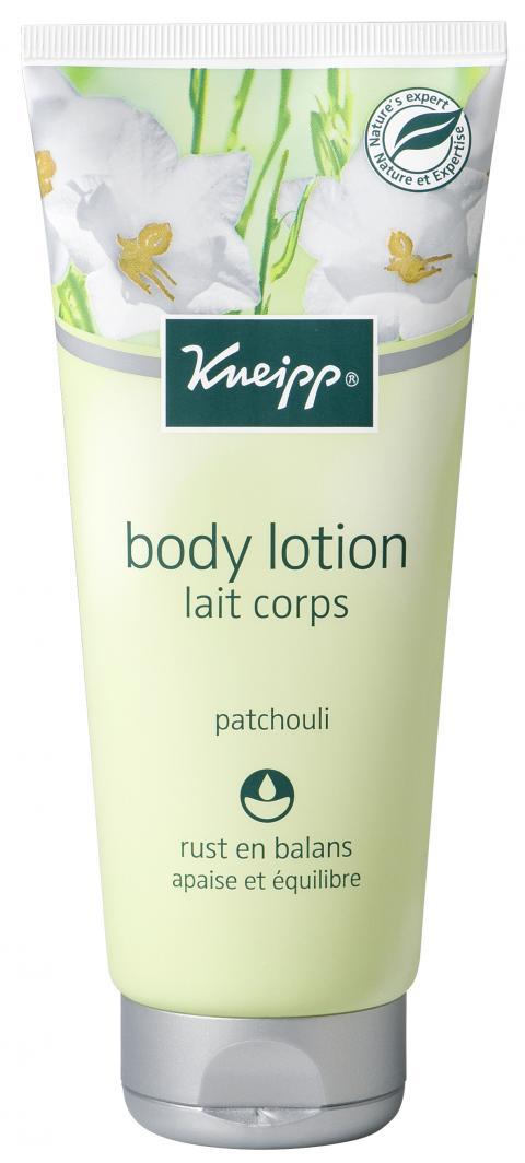 De ontspannende en hydraterende Kneipp body lotion Patchouli, verrijkt met natuurlijk intensief verzorgende plantenoliën, zorgt voor een heerlijk rustmoment. Deze bodylotion is bijzonder geschikt voor de droge en gevoelige huid.