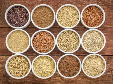 Granen en zaden om mee te koken en te bakken