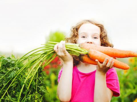 Groenten op maat van kinderen
