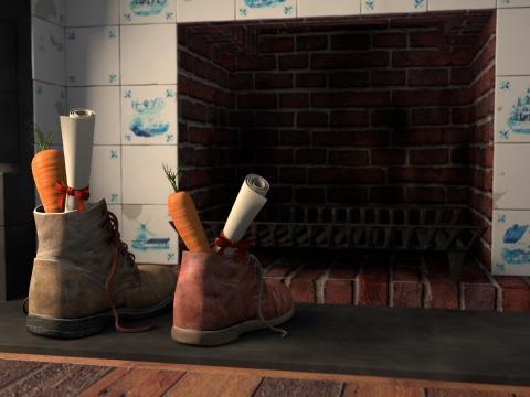 Schoenen voor Sinterklaas