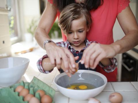 bakken met kinderen