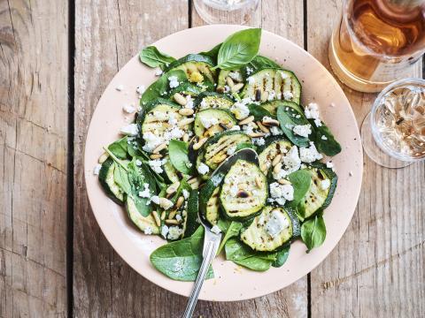 salades met courgette