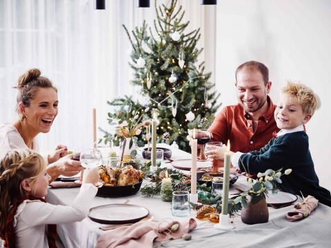 Natalies feestmenu met het gezin
