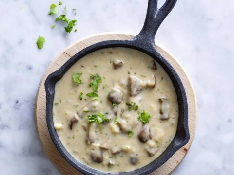 Hoe maak je champignonsaus?