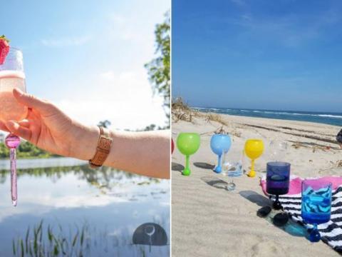 On a trouvé le verre à vin parfait pour les apéros à la plage!