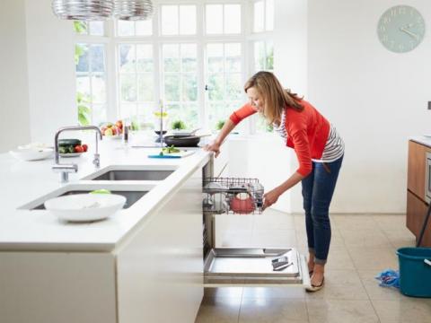 Een schone afwasmachine in 1-2-3