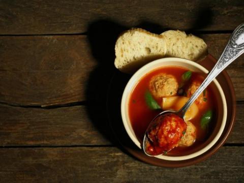 Goddelijke soep met balletjes 1