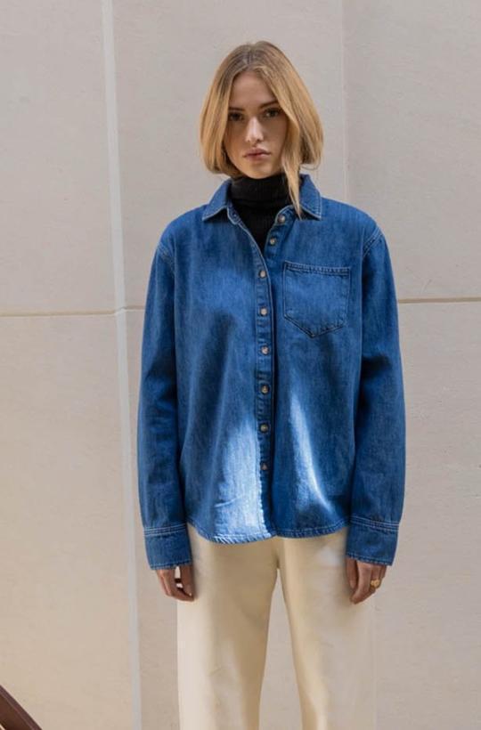 Surchemise en jeans