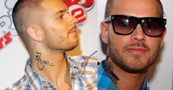 M Pokora Retire Son Tattoo Dans Le Cou