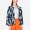 Donkerblauwe kimono met ananasmotief