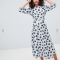 Zilverkleurige jurk met luipaardmotief