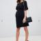 Maternity Wiggle Mini Dress