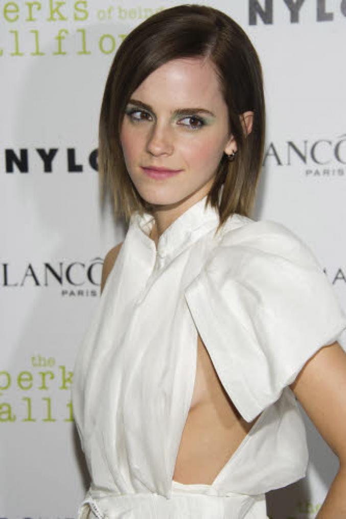 Emma Watson avec un élégant carré