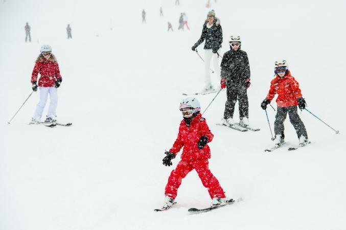 La famille royale au ski