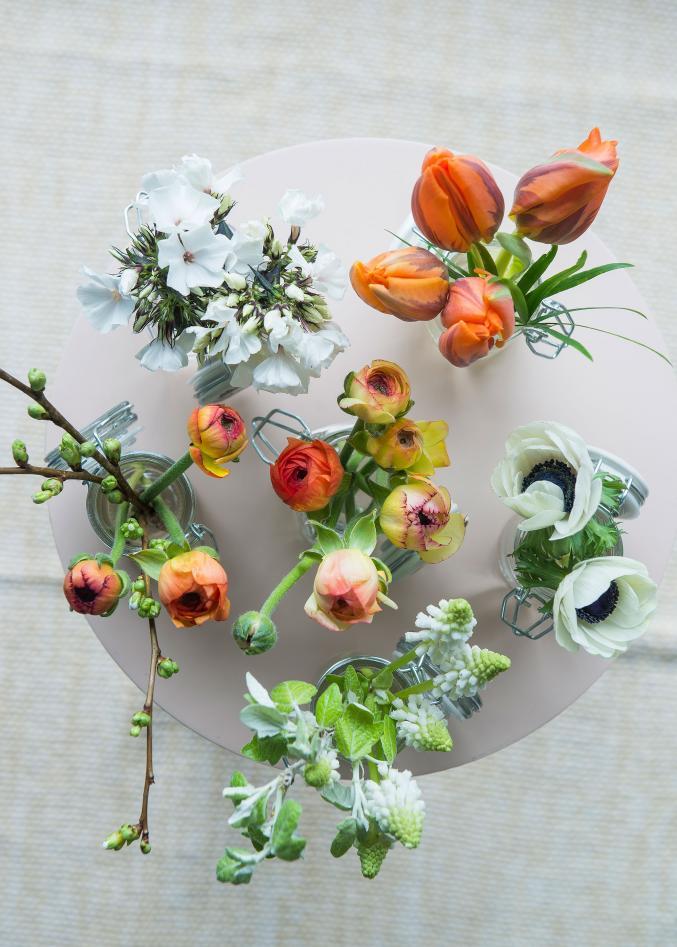 Pot pourri de fleurs fraîches