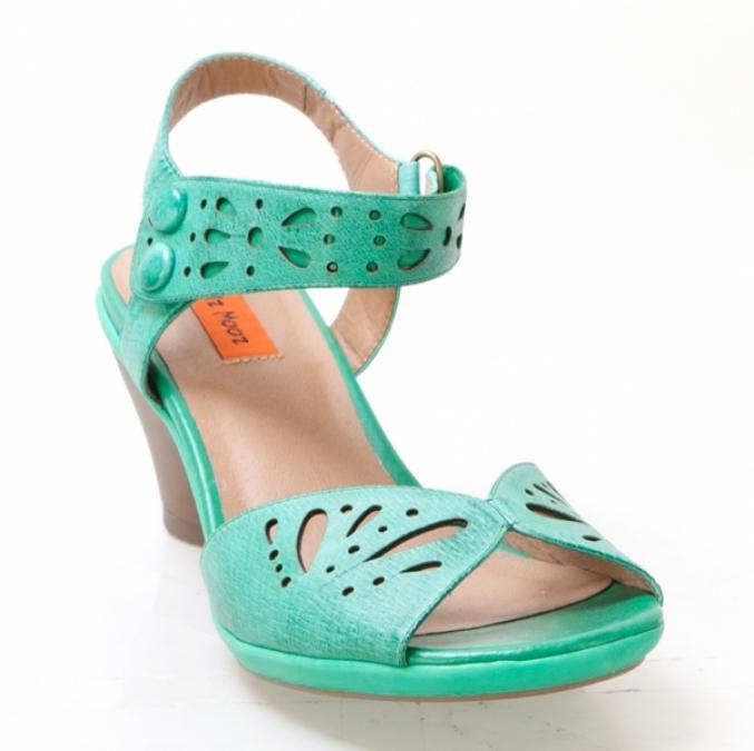 Sandales vertes pastel - Miz Mooz - 90€