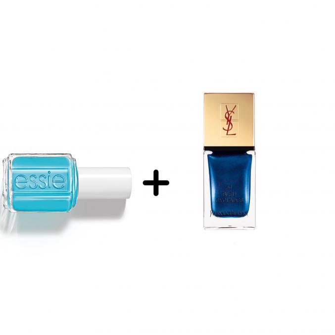 Blauw contrast