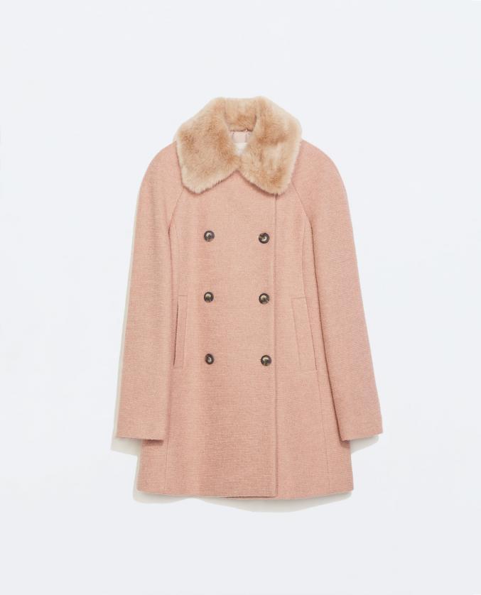 Manteau rose - Zara - 79,95 €