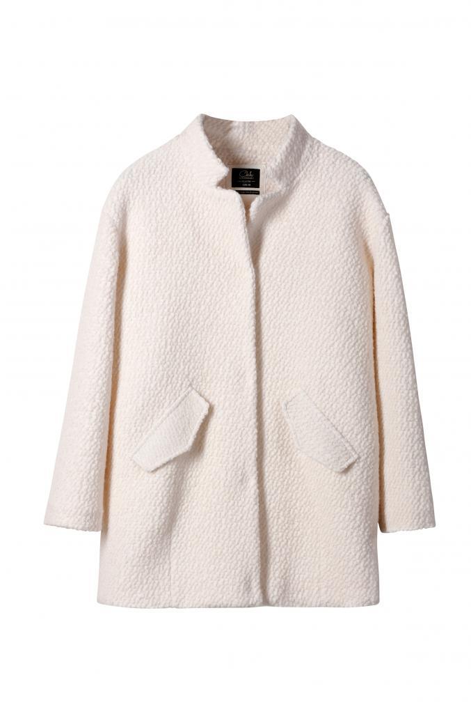 Manteau bouclé en laine - C&A - 49 €