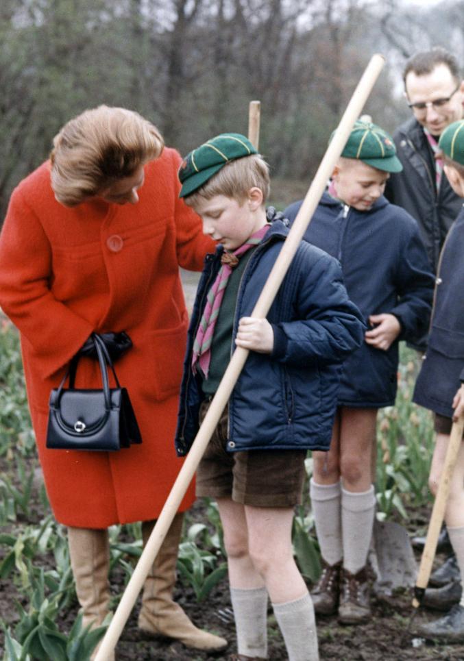 La Reine Fabiola avec son neveu le Prince Philippe