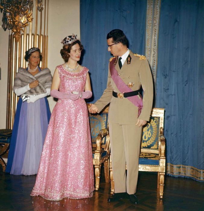 La reine Fabiola et le roi Baudouin de Belgique