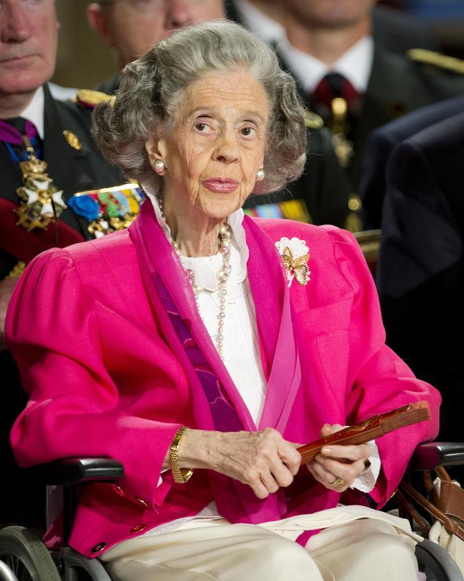 La Reine Fabiola lors de l'abdication d'Albert II