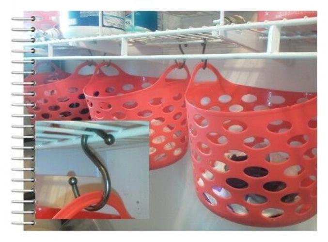 Les paniers en plastique