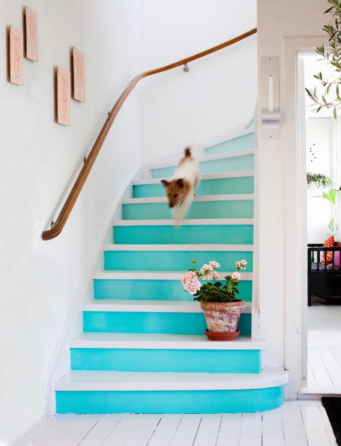 Turquoise, blanc et naturel, trio charmant