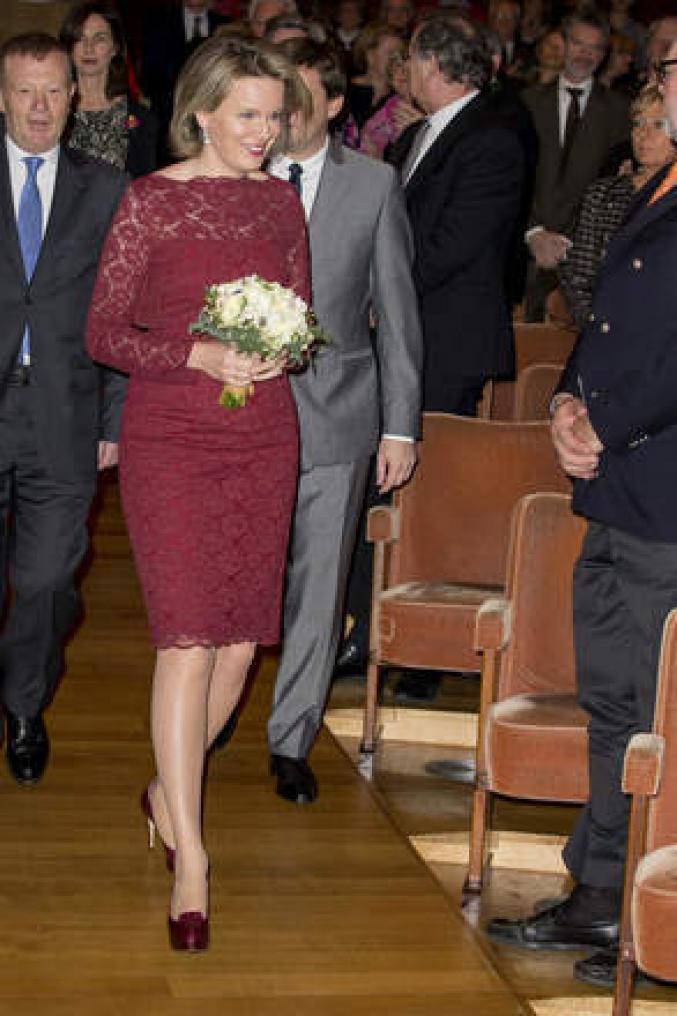 Une robe Natan pour un concert de gala à Bruxelles