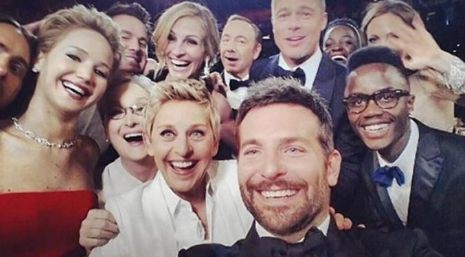 Le selfie le plus célèbre, Cérémonie des Oscars
