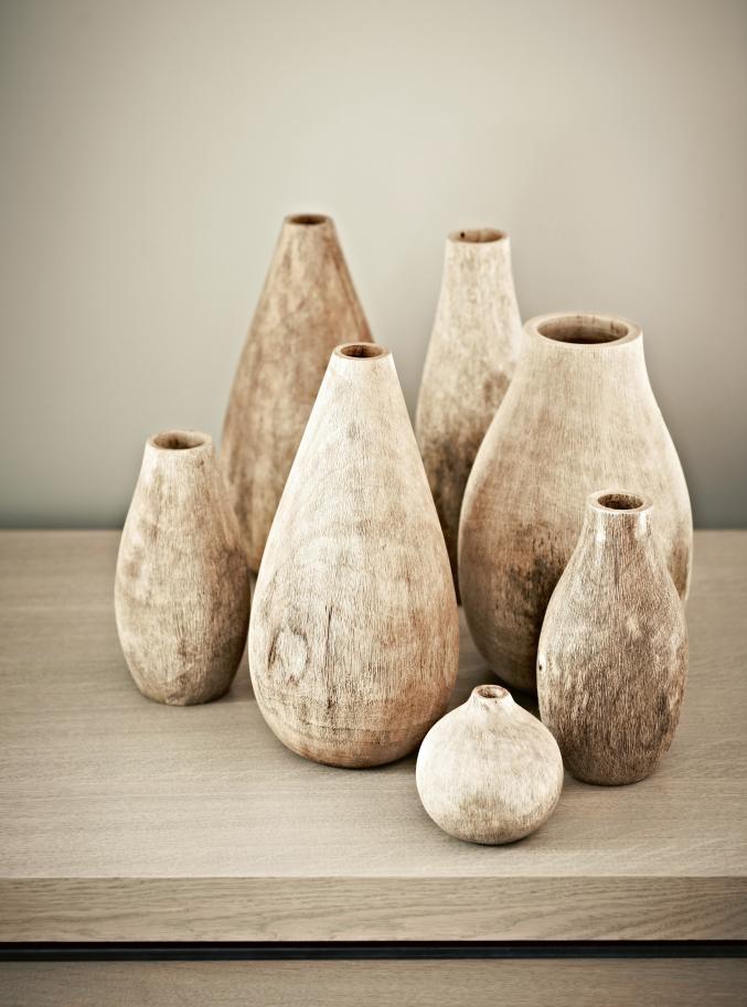 Vases en bois de mangue, Scapa Home, àpd 22€