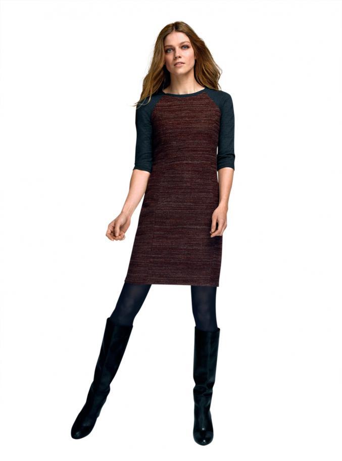 La Redoute - Robe bimatière et bottes dessus cuir vachette