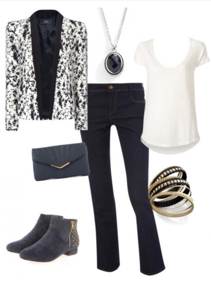 Look jeans droit