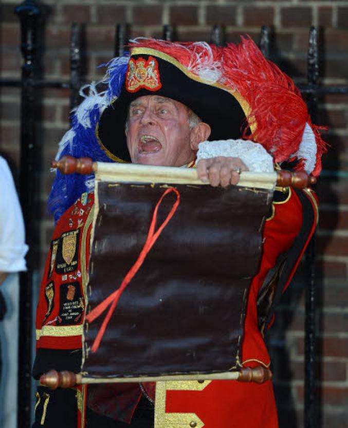 L'annonce de la naissance du bébé royal